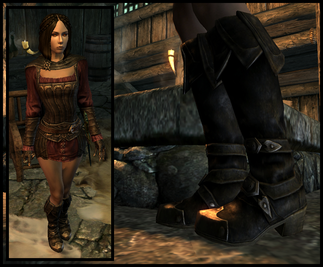 Dawnguard Female Vampire Boots for UPN