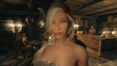 Oh la, la.. Anatriax's character from the Skyrim immersive test dev capture