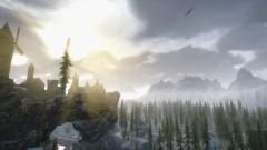 A sunrise in Solitude (ENB-Seasons of Skyrim True HDR)