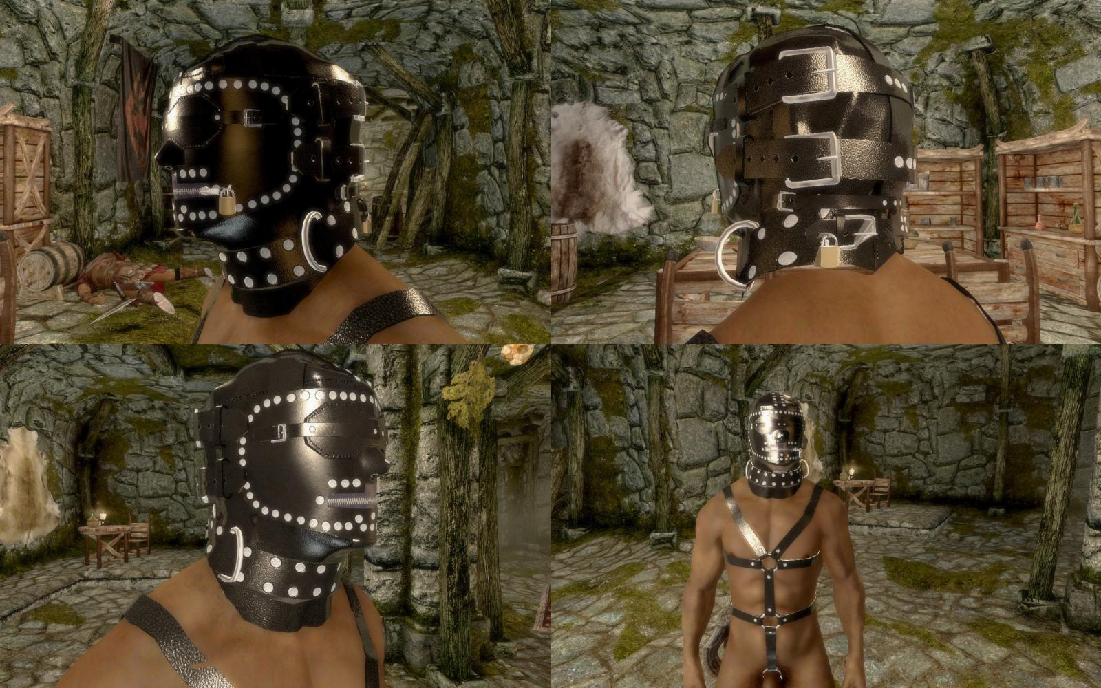 DZ's Devious Devices Expansion: Very Cruel Leather Hood - In Game