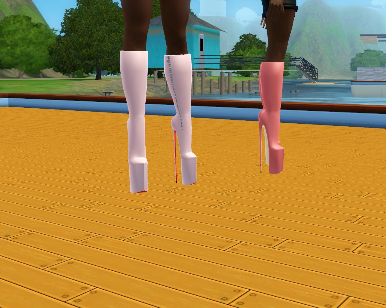 [REMESH] Impossible Boots Victoire Platforms by JoshQ