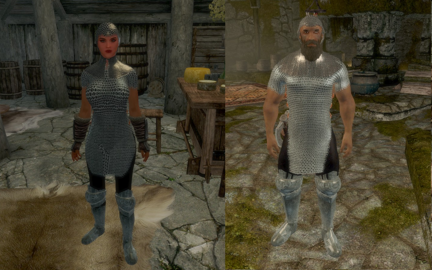 SAE: Chainmail hood and armor variants