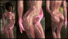 Opalescent Pink Skin Suit