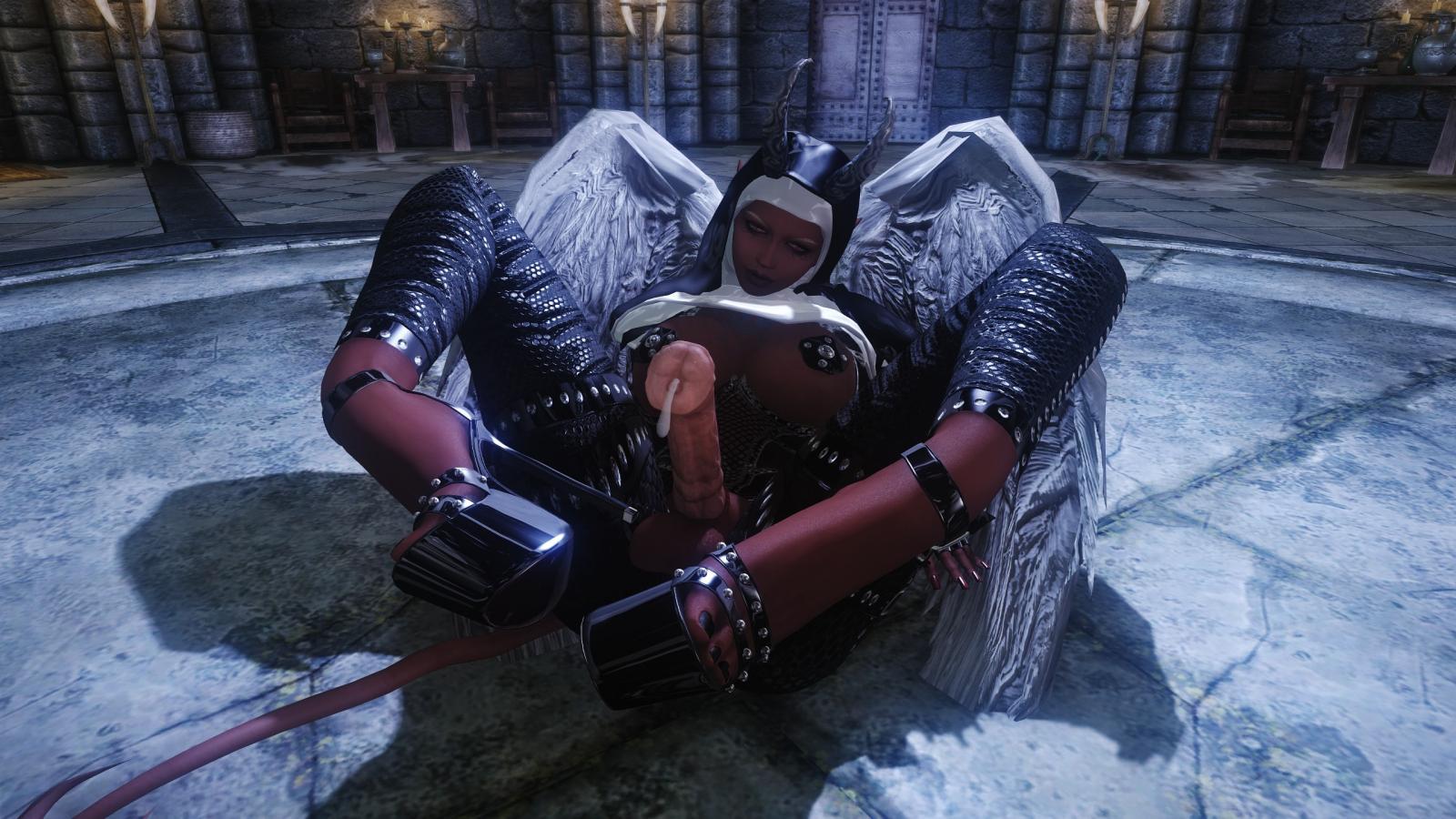 horny Succubusangel-Nun